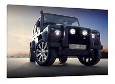 Landrover Defender 90 - 30x20 Inch Canvas Wall Art Framed Picture Print