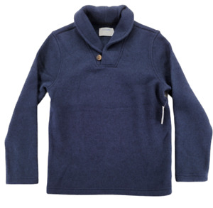 Old Navy Boys Shawl Collar Pullover Sweater Navy Blue Size M (8)