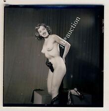 NUDE MODEL AT STUDIO / NACKTES MODELL Aktfoto * 60s SEUFERT Contact Print #12