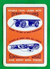 Playing Cards 1 Single Swap Card - Old Vintage Wide DYSON TRAILERS + ATTACHMENTS