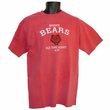 Brown Bears Old Time Hockey Garment Washed Red T-Shirt - 2XLarge