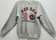 Vintage 80s 1986 Boston Red Sox World Series Champs Crewneck Sweatshirt L Gray