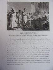 DESGENETTES Médecin en chef de l'Armée d'Egypte. Prairial an 7 . Juin 1799