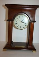 Bombay Co Wood Mantel Clock Arched with Columns