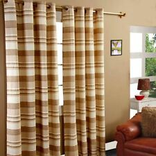 Homescapes 1 Pair of Morocco Ribbed Curtains Beige 54 Inch Drop 100 Cotton 46