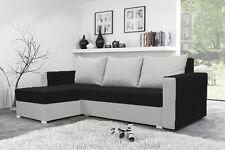 corner sofa bed brand new  storage left right black & white fabrics NEW