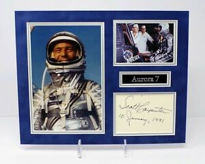 Scott CARPENTER Signed Mounted Mercury 7 Astronaut Photo Display AFTAL RD COA