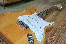 GREAT PLAYING NEW 12 STRING STRAT style NATURAL ELECTRIC GUITAR