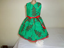 doll dress for 18 inch american girl christmas tree green red rare 150