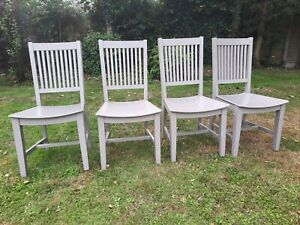 4 Neptune Harrogate Dining Chairs in grey VGC