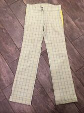 DIESEL White/Green/Yellow Slim Skinny Pants Women Size 27 (School)