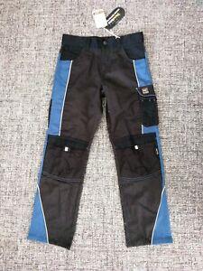 Kinderhose Arbeitshose Handwerker-Stil Kinderarbeitshose Schwarz 152