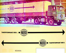 SCANIA Nord transportkompagniet 1:87 CAMION Autocollant Stickers