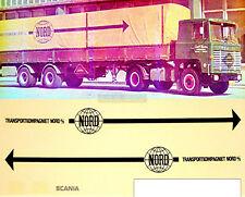 SCANIA NORD transportkompagniet 1:87 decalcomania per autocarro decalcomanie