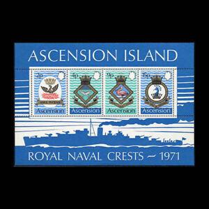 Ascension Is, Sc #155a, MNH, 1971, S/S, Coat of Arms, Oberon, Pelican, A450HID