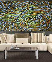 huge Art Painting original inspired Seascape  River fishing by Jane Crawford