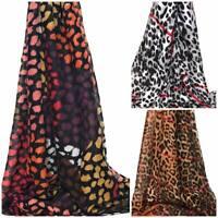 Leopard Print Scarf Large Ladies Winter Shawl Pashmina Stole Blanket Wrap Animal