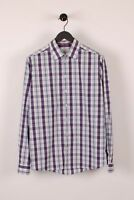 Eton Slim Multicheked Men Casual Long Sleeves Shirt 42/16 1/2 size