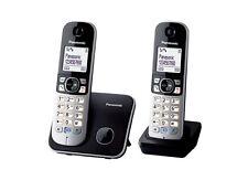 Panasonic KX-TG6812 DECT-Schnurlostelefon DUO in schwarz-silber
