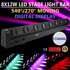 8  Beam LED Bar DMX Moving Head Stage Light KTV Club 100W RGBW Strobe Lighting