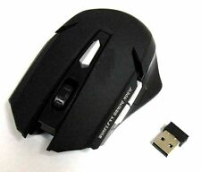 2.4GHz Wireless Optical Gaming Mouse + USB Receiver For Computer PC Laptop BLACK