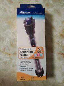 Aqueon Submersible Aquarium Heater. Adjustable Temperature Control 68°-88° READ