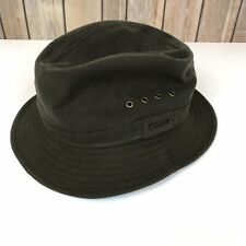 Vintage Filson Tin Cloth Packer Fishing Hat Med Waxed Cotton Canvas Made In USA