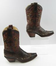 Ladies Corral Leather With Embroidery Detail Cowgirl Boots Size : 6.5 M