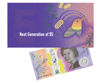 Official RBA Folder $5 Next Generation Banknote AA First Prefix