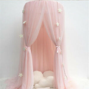 Children Nursery Decor Bed Canopy Dome Mosquito Net Pram Hanging Curtain Tent