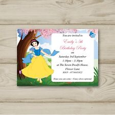 10 Personalised Childrens Birthday party invitations Disney Princess Snow White