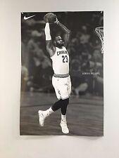Lebron James Dunk Cleveland Cavs Always Believe Nike Poster Rare Brand New Huge
