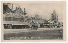 CALCUTTA INDIA PC Postcard KOLKATA New Market Extension INDIAN West Bengal