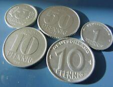 Deutschland / DDR kleines Lot 50, 10, 5 u. 1 Pfennige / 1952 - 1981, Aluminium
