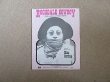 """""""ROCHDALE COWBOY"""" - recorded by MIKE HARDING sheet music  VGC"""