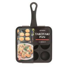 Japanese TAKOYAKI Grill Pan Cooking Plate Round Pancake Puff Octopus Ball Maker