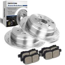 99-04 Honda Odyssey Cross Drilled Slotted Brake Rotors Ceramic Pads F+R Set