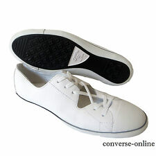 Women's CONVERSE All Star Light OX CUTOUT White LEATHER Trainers Shoes UK SIZE 5