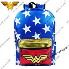Wonder Woman backpack school bag knapsack Dc Comics Justice League Superhero New