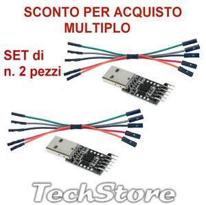 SET N. x 2pz Adattatore Convertitore da RS232 via USB2 a TTL con CP2102  UART
