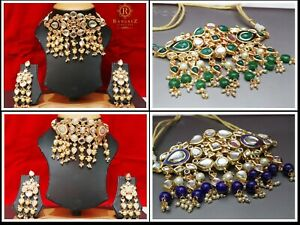 Neck touch Stylish Party Wear South Indian Choker Earrings Fashion Jewelry Set