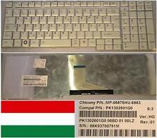Keyboard Qwertz HU Hungarian TOSHIBA P200 X300 MP-06876HU-6983 PK1302601G0 Grey
