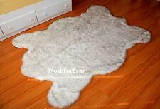Black Tip Russian Polar Bear 4' x 6' Plush Faux Fur Throw Carpet Rug Area Rugs