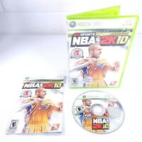 NBA 2K10 (Microsoft Xbox 360, 2009) w/ Manual - VG - Kobe Bryant