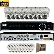 CIB True HD 8CH 1080P DVR system 2TB HDD 8X1080P 2.1MP Metal Vandal Dome Camera