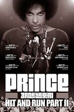"PRINCE/3RDEYEGIRL ""HIT AND RUN PART II"" 2014 UK CONCERT TOUR POSTER-Funk,Pop,R&B"