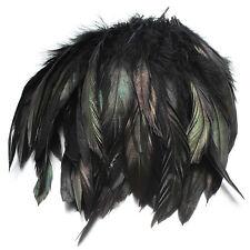 100pcs Black Fluffy Rooster Feather Fringe Decoration Home Craft DIY 6-8