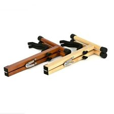 More details for wooden guitar stand fit acoustic guitar folding portable a-frame travel sports