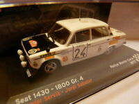 voiture 1/43 IXO altaya SEAT de Rallye : 1430 -1800 Gr.4 Monte Carlo 1977