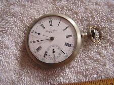 Antique Remington Pocket Watch 11 Jewels Lever Set Nickel Silver Watch Case